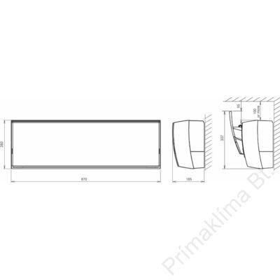 FUJITSU ASYG14LUCA (beltéri egység) Oldalfali split klíma 4,2 kW, Hősziv.Inverter,R410A