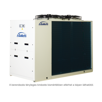 GALLETTI MPE 028 C0 (01S0C00000001) pump, tank, cond.contr. folyadékhűtő (hidroblokkal, vent. ford. szab.) 28,1 kW,R 410A, 3 fázis