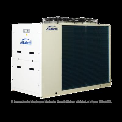 GALLETTI MPE 054 C0 (01S0C00000001) pump, tank, cond.contr. folyadékhűtő (hidroblokkal, vent. ford. szab.) 53,5 kW, R410A, 3 fázis
