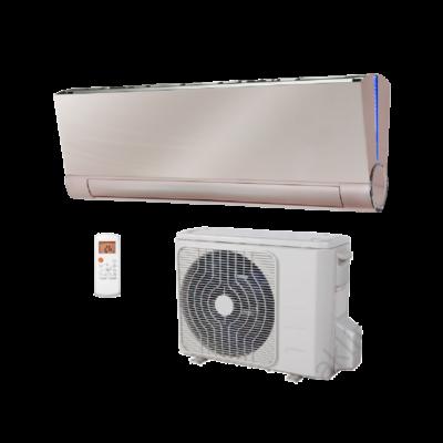 FISHER FSAIF-Art-180AE2-G (kültéri + beltéri egység) Oldalfali split klíma (GOLDEN) 5,3 kW,Hősz., Inverter , R410A; WIFI csatlakozási opció