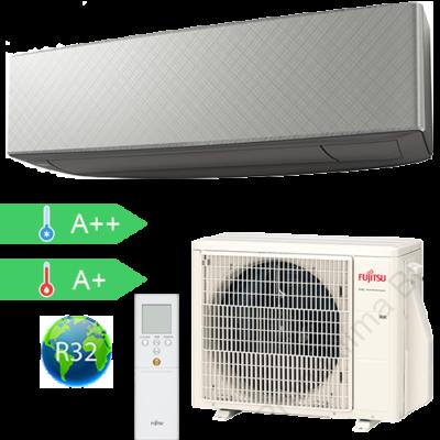FUJITSU ASYG12KETA-B/AOYG12KETA (kültéri + beltéri egység) Oldalfali split klíma (Szürke) 3,4 kW Hősz. Inver. R32