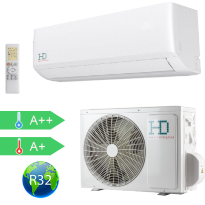HD  HDWI-MAXIMUS-187A / HDOI-MAXIMUS-187A (beltéri +kültéri egység) Oldalfali split klíma (MAXIMUS) 5,3 kW, Hősziv,Inverteres, R32, WIFI csatlakozással