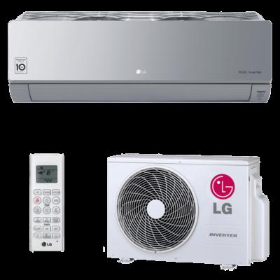 LG  AC18SQ (kültéri+beltéri egység) ART COOL Silver split k. Tükör  Inverter, Hősziv,R32